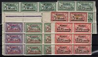 PP133404/ MEMEL – 1922 – MINT MNH LOT OF BLOCKS OF 6 – CV 95 $