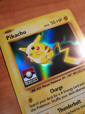 LP LEAGUE Pokemon PIKACHU Card BLACK STAR Promo Set XY202 Ultra Rare Holo Stamp