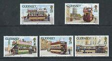 GUERNESEY 1992 GUERNESEY TRAMWAYS LOT DE 5 NON MONTÉS EXCELLENT ÉTAT, MNH
