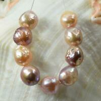"""Kasumi Freshwater Pearls 3.77"""" Strand Multicolor Nucleus Baroque China 12.61 g"""