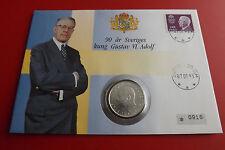 * Numisbrief Schweden 1993 mit  10 Kronen Silber Münze 1972 * (ALB12)