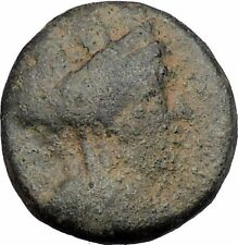 SIDON in PHOENICIA 109BC Tyche Galley Ship Authentic Ancient Greek Coin i50377