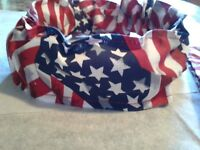 Buster Brown Patriotic Dog Collar Cover Scrunchies Custom Made by Linda xS,S,M,L