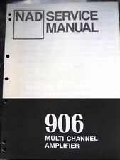 NAD Manuale di servizio per 906 AMPLIFICATORE MULTICANALE