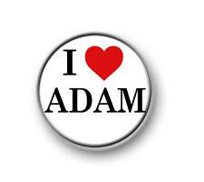 """I LOVE ADAM / 1"""" / 25mm pin button / badge / rock / pop / Lambert / Glambert"""