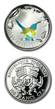 Togo Tropical Forest Blue-throated Hummingbird 100 Francs 2010 Proof Crown Color