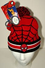Marvel Comics Spider-Man Red Winter Knit Adult M/L Cap Hat New European
