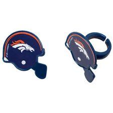 NFL Football Helmet Cupcake Topper Rings - Denver Broncos