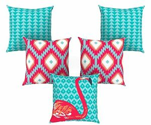 Abstract Pattern Multicolour 16 X 16 Inches Jute Cushion Cover With Zip Closure