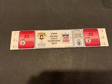 1990 PITTSBURGH PIRATES CINCINNATI REDS NLCS 3 HOME GAME FULL TICKET MINT UNUSED