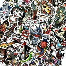 Traditional Tattoo Sticker Bomb Pack Vinyl Decal Lot Skateboard Random Mix 50 pc