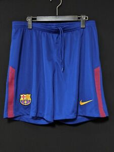 2017-18 Barcelona Home Football Shorts Soccer L *Near Mint Condition* NIKE