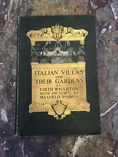 Edith Wharton, Maxfield Parrish Italian Villas and Their Gardens 1904 Century Co