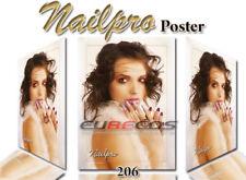 Poster Werbeplakat Nailpro Nagelstudio Deko Werbung Hochglanz 49 x 67 cm Nr. 206