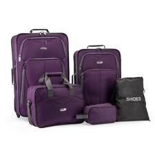 Traveler's Choice Elite Purple Luggage Whitfield 5-Piece  Rolling Luggage Set