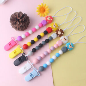 Baby Pacifier clip Food grade Silicone Beads Sheep Baby Pacifier chain chew Toys