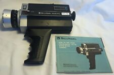 1974 BELL & HOWELL Focus-Matic 671 / XL Zoom Movie Camera & Instruction Booklet