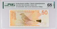 Netherlands Antilles 50 Gulden 2016 P 30 H Superb Gem UNC PMG 68 EPQ TOP POP