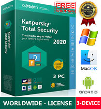 KASPERSKY TOTAL Security 2020 3 Device / 1 Year / Win-Mac-Android / GLOBAL - KEY