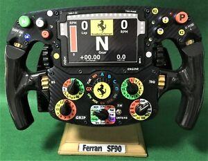 Charles Leclerc_FULL SIZE replica SF 90 Ferrari F1 steering wheel_Not Amalgam