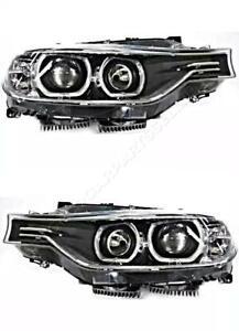 Headlight Set Black For BMW F30 F31 F35 F80 2011-16