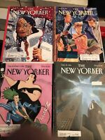 The New Yorker Magazine Lot Of 4 Magazines Have Labels & Stamped.  Lot 13