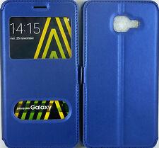 Etui Housse Coque Pochette Bleu Intérieur Silicone pour Samsung Galaxy A3 2016