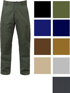 Tactical BDU Cargo Pants Military Uniform Trousers Army Fatigues Solid 6 Pocket