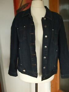 "💕 tolle ""Olivia"" Designer stretch Jeans Jacke mit Strass blau Gr 42 44 46 💕"