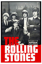 British Rock: The Rolling Stones Decca Group Photo Promotional Poster 1965 13x19