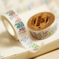 DIY Paper Sticky Adhesive Sticker Decorative Washi Tape 15mm×10m Floral Design