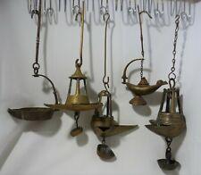 Lampes à huile de collection en bronze