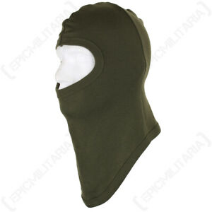 100% Cotton Balaclava Face Covering - Olive Drab - Hunting Walking Paintball