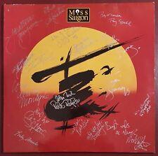 """MISS SAIGON 12"""" 1988 Double LP, Signed by 17 Cast Members, Genuine Autographs"""