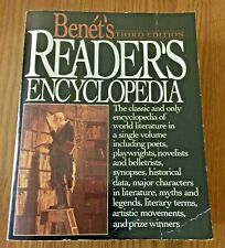 "OLDER 1987 BOOK ""BENET'S 3rd EDITION, READER'S ENCYCLOPEDIA, WORLD LITERATURE"""