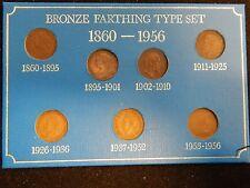 Bronze Farthing Type Set Great Britain