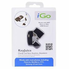 iGo USB Keychain Charger Sync Cable for Mini/Micro For Samsung HTC LG Motorola