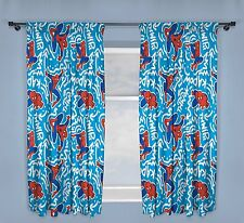66x54 Inch SPIDERMAN 'POPART Children bedding Bed NEW ' DESIGN PAIR OF CURTAINS