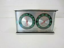 PRESTO NEON Green Numbers Mid Century Modern Room Thermometer Temp Humidity USA
