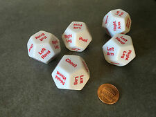 5 x D12 12 Twelve Sided 28mm Body Part Critical Hit Location Dice Die RPG D&D