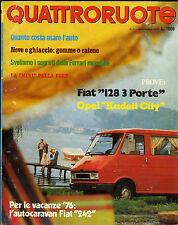 QUATTRORUOTE N° 239 - NOVEMBRE 1975 - FIAT 128 _ OPEL KADETT CITY _ ROVER 2000