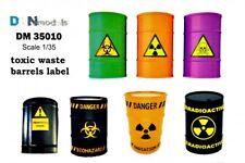 """Decal: """"Toxic waste barrels label""""   1/35 DAN models # 35010 NEW!!!"""