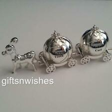 Baby Tooth & Curl Cinderella Silver Plated Carriage/Newborn/Baby Shower/Keepsake