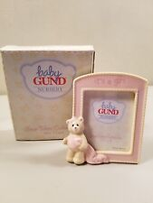 Baby Gund Nursery Bear Tears Collection It's a Girl Ceramic Frame-Comes in Box