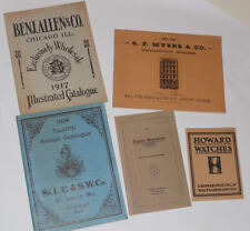 5 1960s CLOCK & WATCH CATALOG REPRINTS!  HOWARD WATCHES! ANSONIA CLOCKS! & MORE!