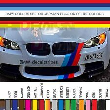 Germany Flag Stripe Hood Vinyl Sticker Decal Racing Strip BMW AUDI VW hood 6""