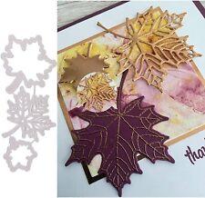 3 Maple Leaves Metal Cutting Dies Stencil Scrapbook Embossing Album Decor Craft