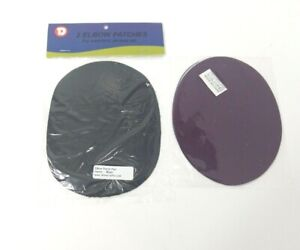 2 Pack  Elbow Patches Iron-On - Black/ Purple