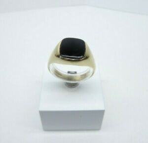 9ct Gold Signet Ring Onyx Gents Vintage Hallmarked 3.8grams Size S with gift box