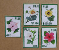 2016 FIJI FLOWERS SET OF 5 MINT STAMPS MNH